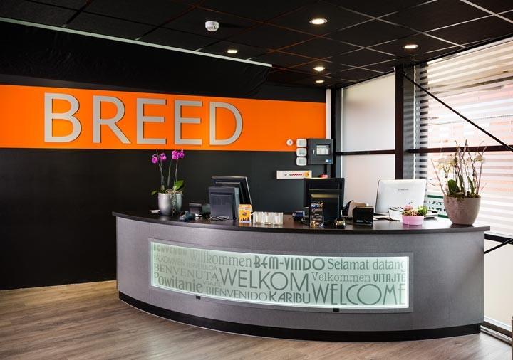 Wereld restaurant Breed receptie