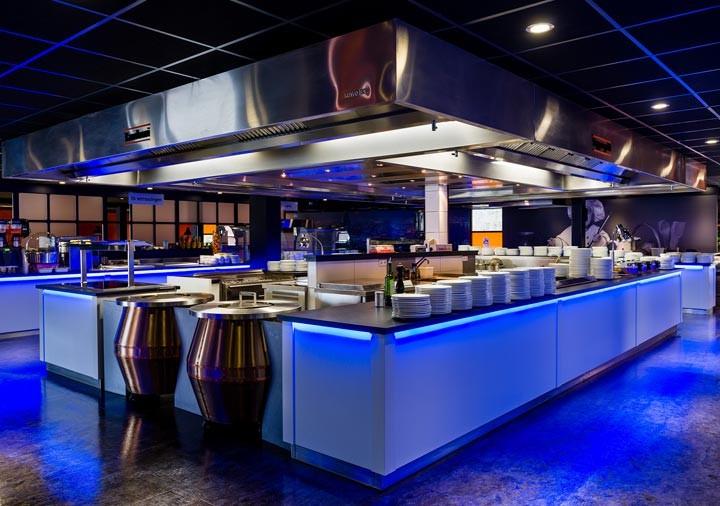 Wereld restaurant Breed keuken