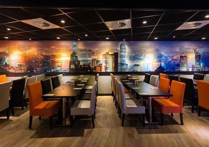 Wereld restaurant Breed zitplaatsen midden
